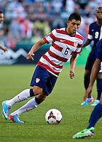 PORTLAND, Ore. - July 9, 2013: Joe Corona controls the ball. The US Men's National team plays the National team of Belize during the 2013 Gold Cup at at JELD-WEN Field.