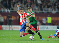 Uefa Europa League Final Bucharest 2012 : Wednesday 9 May 2012 - National Arena Bucharest : Club Atletico de Madrid - Athletic Club Bilbao.duel tussen Mario Suarez (links) en Iker Muniain.foto DAVID CATRY