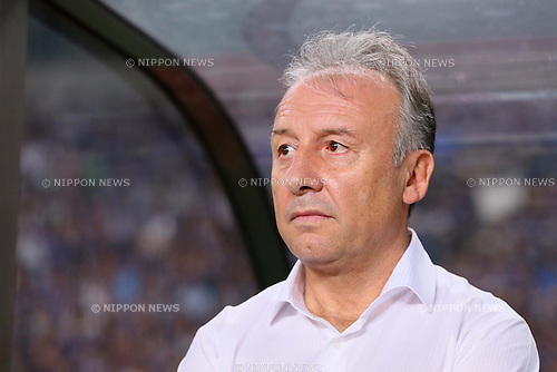 Alberto Zaccheroni (JPN),  AUGUST 14, 2013 - Football / Soccer : <br /> KIRIN Challenge Cup 2013 match <br /> between Japan 2-4 Uruguay <br /> at Miyagi Stadium, Miyagi, Japan.<br />  (Photo by AFLO SPORT)