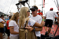 11APR09 Leg 6 Start , Rio de Janeiro. PUMA Ocean Racing on the dock before the start of Lg 6 from Rio to Boston, 4900 nautical miles.