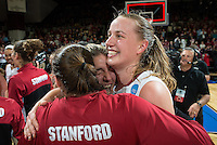 STANFORD, CA - The Stanford Cardinal competes against North Carolina in the Stanford Regional Finals at Maples Pavilion. Stanford advances to the Final Four in Nashville, TN. Final score Stanford 74, North Carolina 65.