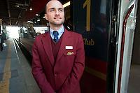"""Roma21 Aprile 2012.Presentato alle autorità """"Italò, il treno ad alta velocità di Ntv"""", alla stazione Tiburtina"""