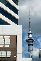 Auckland city skyline and skytower, New Zealand