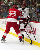 Patrick McCarron (Cornell - 27), Lewis Zerter-Gossage (Harvard - 77) - The Harvard University Crimson defeated the visiting Cornell University Big Red on Saturday, November 5, 2016, at the Bright-Landry Hockey Center in Boston, Massachusetts.