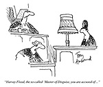 """""""Harvey Flood, the so-called 'Master of Disguise', you are accused of..."""""""