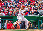 7 April 2016: Washington Nationals outfielder Bryce Harper at bat against the Miami Marlins during the Nationals' Home Opening Game at Nationals Park in Washington, DC. The Marlins defeated the Nationals 6-4 in their first meeting of the 2016 MLB season. Mandatory Credit: Ed Wolfstein Photo *** RAW (NEF) Image File Available ***