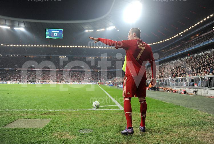 FUSSBALL   CHAMPIONS LEAGUE   SAISON 2011/2012   ACHTELFINALE RUECKSPIEL     13.03.2012 FC Bayern Muenchen - FC Basel        Franck Ribery (FC Bayern Muenchen)