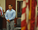 Carlos Roberto Cruz introduces himself to the Court at a Naturalization Ceremony at the U.S. District Court in Oxford, Miss., on Thursday, December 20, 2012.