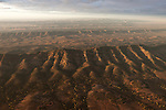 Dramatic early morning aerial of Wilpena Pound, Flinders Ranges National Park