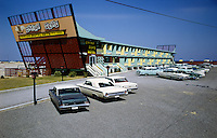 China Seas Motel, Myrtle Beach, South Carolina. Motel exterior with old cars
