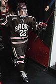 Kyle Kramer (Brown - 22) - The visiting Brown University Bears defeated the Harvard University Crimson 2-0 on Saturday, February 22, 2014 at the Bright-Landry Hockey Center in Cambridge, Massachusetts.