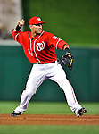 23 April 2010: Washington Nationals' shortstop Ian Desmond fields an infield grounder during a game against the Los Angeles Dodgers at Nationals Park in Washington, DC. The Nationals defeated the Dodgers 5-1 in the first game of their 3-game series. Mandatory Credit: Ed Wolfstein Photo