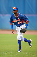 New York Mets right fielder Jose Medina (44) during an Instructional League game against the Miami Marlins on September 29, 2016 at the Port St. Lucie Training Complex in Port St. Lucie, Florida.  (Mike Janes/Four Seam Images)