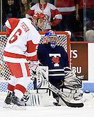 Joe Pereira (BU - 6), Andrew Martin (Toronto - 30) - The Boston University Terriers defeated the visiting University of Toronto Varsity Blues 9-3 on Saturday, October 2, 2010, at Agganis Arena in Boston, MA.