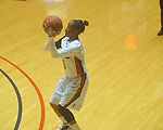 "Mississippi's Valencia McFarland (3) shoots at the C.M. ""Tad"" Smith Coliseum in Oxford, Miss. on Sunday, January 2, 2011. (AP Photo/Oxford Eagle, Bruce Newman)"
