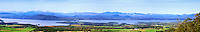View of Lake Champlain and the Champlain Valley of Vermont