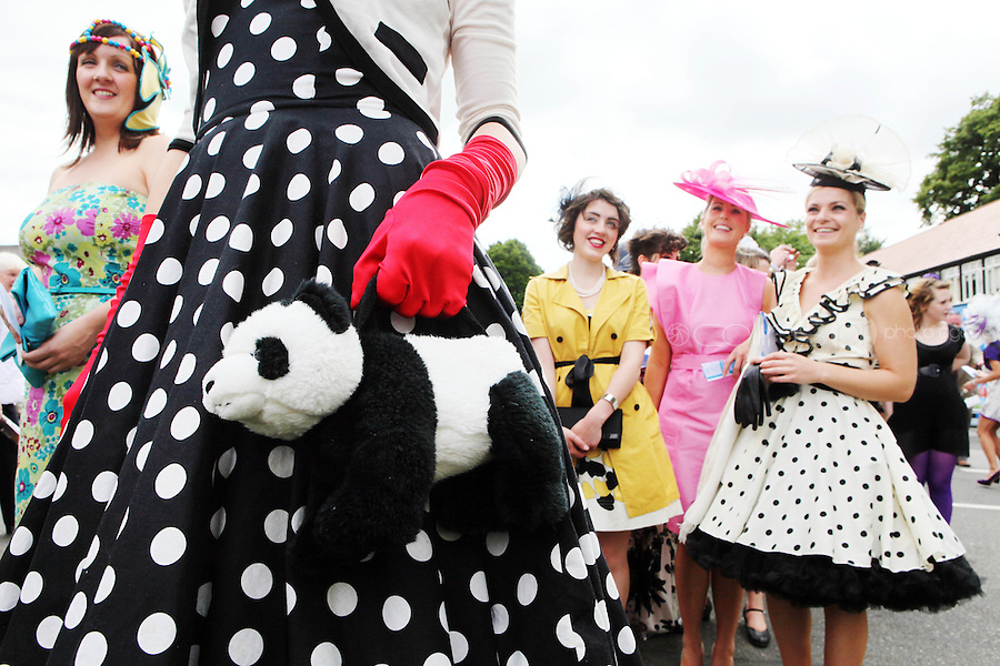 5/8/2010.Blossom Hill Ladies Day. Barbara Mc Carthys Panda Hang bag is pictured at the Blossom Hill Ladies Day at the Fáilte Ireland Dublin Horse Show at RDS. Picture James Horan/Collins Photos