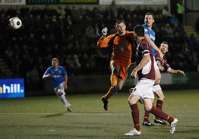 Jon Daly heads the only goal of the game past keeper Graeme Smith