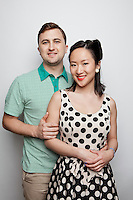John Herman and Loretta Cheng are pictured at The 2012 Historic Houses Trust of NSW annual Fifties Fair at Rose Seidler House, Sydney. Picture James Horan