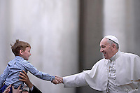 Pope Francis during general audience at the Vatican,.April 13, 2016