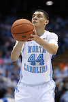 24 October 2014: North Carolina's Justin Jackson. The University of North Carolina Tar Heels played the Fayetteville State University Broncos in an NCAA Division I Men's basketball exhibition game at the Dean E. Smith Center in Chapel Hill, North Carolina. UNC won the exhibition 111-58.