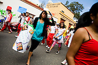 Student protest against litter. Oaxaca, Mexico, North America