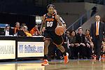 19 November 2014: Oklahoma State's Roshunda Johnson. The University of North Carolina Tar Heels hosted the Oklahoma State University Cowgirls at Carmichael Arena in Chapel Hill, North Carolina in a 2014-15 NCAA Division I Women's Basketball game. UNC won the game 79-77.
