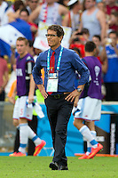 Russia manager Fabio Capello looks dejected