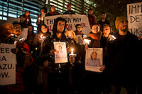 Vigil for Isa Muazu at the Home Office. 28-11-13. Asylum seeker Isa Muazu, who has been on hunger strike in detention for over 90 days is on the verge of death. A candle lit vigil in support of Isa outside the Home Office the day before his deportation to Nigeria.