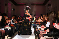 A model walks the runway during the fall 2009 Arutyunov Sa catwalk show during London Fashion Week, Friday, Feb. 20, 2009 in London. (Tina Gao/pressphotointl.com)
