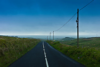The road ahead in County Clare, West of Ireland