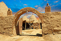 "Pictures of the beehive adobe buildings of Harran, south west Anatolia, Turkey.  Harran was a major ancient city in Upper Mesopotamia whose site is near the modern village of Altınbaşak, Turkey, 24 miles (44 kilometers) southeast of Şanlıurfa. The location is in a district of Şanlıurfa Province that is also named ""Harran"". Harran is famous for its traditional 'beehive' adobe houses, constructed entirely without wood. The design of these makes them cool inside. 41"