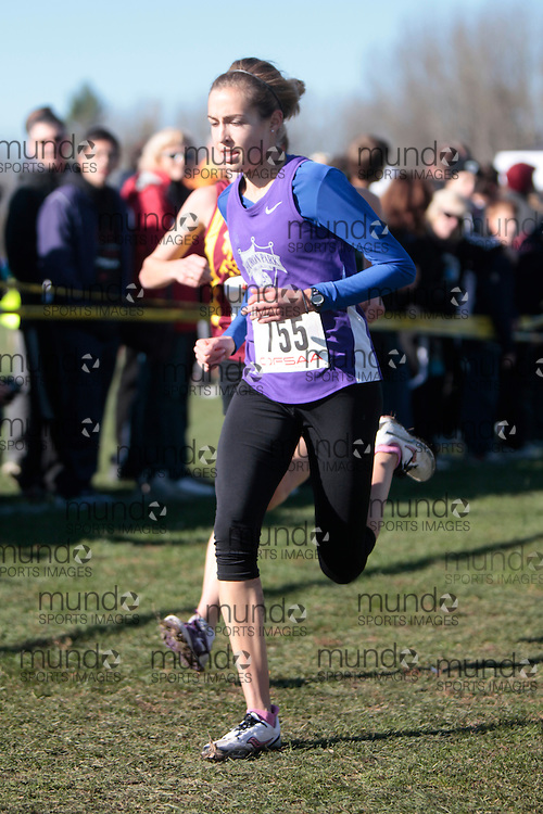 Madalyn Ruby of Huron Park SS competes in the senior girls race at the 2011 OFSAA Cross Country Championships in Ottawa, Ontario, November 5, 2011..GEOFF ROBINS/ Mundo Sport Images