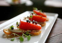 Smoked salmon crostini at the Spur Gastropub.