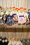 Puppets, a traditional, handmade Czech product, Prague, Czech Republic, Europe