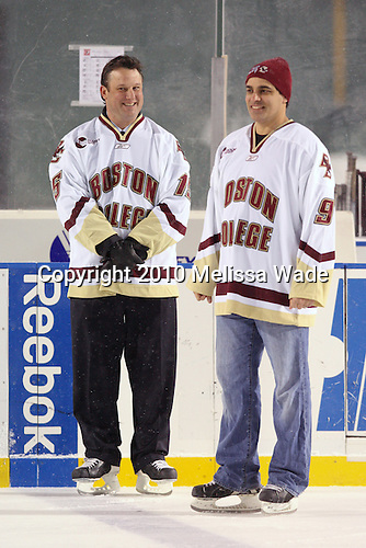 Craig Janney, Marty McInnis - The Boston University Terriers defeated the Boston College Eagles 3-2 on Friday, January 8, 2010, at Fenway Park in Boston, Massachusetts, as part of the Sun Life Frozen Fenway doubleheader.