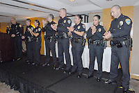Santa Monica police Chief Timothy J. Jackman introduces his newest officers during  Santa Monica Chamber of Commerce's 16th Annual New Heroes Celebration at Le  Merigot on Thursday, October 19, 2010.