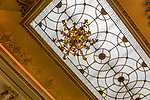 The interior ceiling of the tearoom in the Ritz Hotel in London