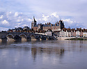 AA003965-02...FRANCE - The town of Gien on the banks of the Loire River.