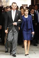 APR 23 Queen Letizia and King Felipe Cervantes award 2016
