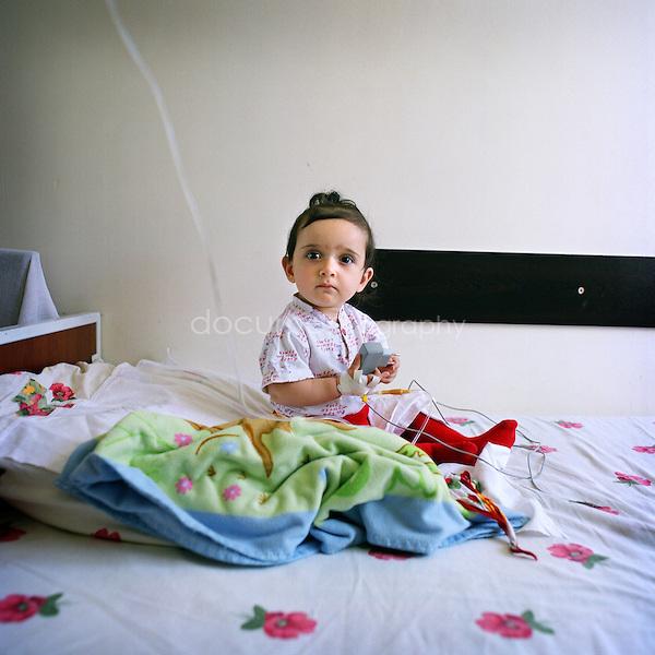 .A child in the Children Hospital of Stepanakert...Nagorno Karabakh, oct 2010, Stepanakert..Magali Corouge/Documentography.