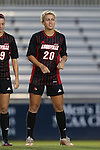 04 October 2014: Louisville's Alison Price. The Duke University Blue Devils hosted the University of Louisville Cardinals at Koskinen Stadium in Durham, North Carolina in a 2014 NCAA Division I Women's Soccer match. The game ended in a 0-0 tie after double overtime.