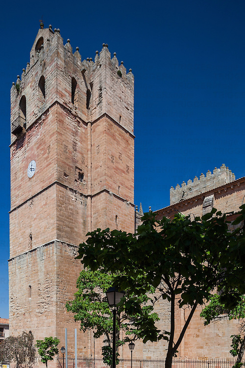 Torre de las Campanas (Bells Tower), Sigüenza Cathedral, province of Guadalajara, Spain