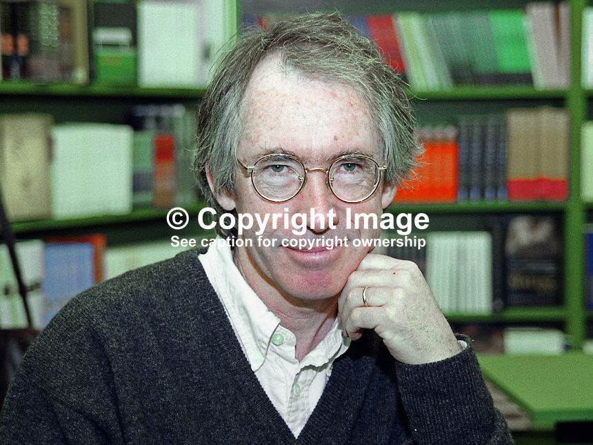 Ian McEwan, novelist, screenwriter, English, at Hay-on-Wye International Book Festival, Wales, UK, 200505290.<br />