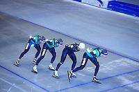 SCHAATSEN: HEERENVEEN: Thialf, 07-06-2012, Zomerijs, Douwe de Vries, Jan Blokhuijsen, Koen Verweij, Sven Kramer, Team Pursuit training, ©foto Martin de Jong