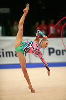 Melitina Staniouta of Belarus (junior) performs at 2008 Portimao World Cup of Rhythmic Gymnastics on April 17, 2008.  (Photo by Tom Theobald).