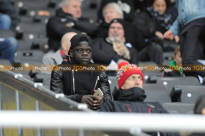 Gaël Bigirimana of Newcastle United, currently on loan at Rangers watches on - Newcastle United Under-21 vs Arsenal Under-21 - Barclays Under-21 Premier League Football at St James Park, Newcastle United FC - 09/02/15 - MANDATORY CREDIT: Steven White/TGSPHOTO - Self billing applies where appropriate - contact@tgsphoto.co.uk - NO UNPAID USE