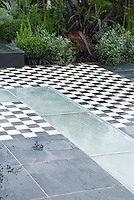 Black and white patio 37706