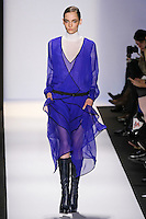 Zuzanna Bijoch walks the runway in an out by Max Azria, for the BCBGMAXAZRIA Fall 2011 fashion show, during Mercedes Benz Fashion Week.