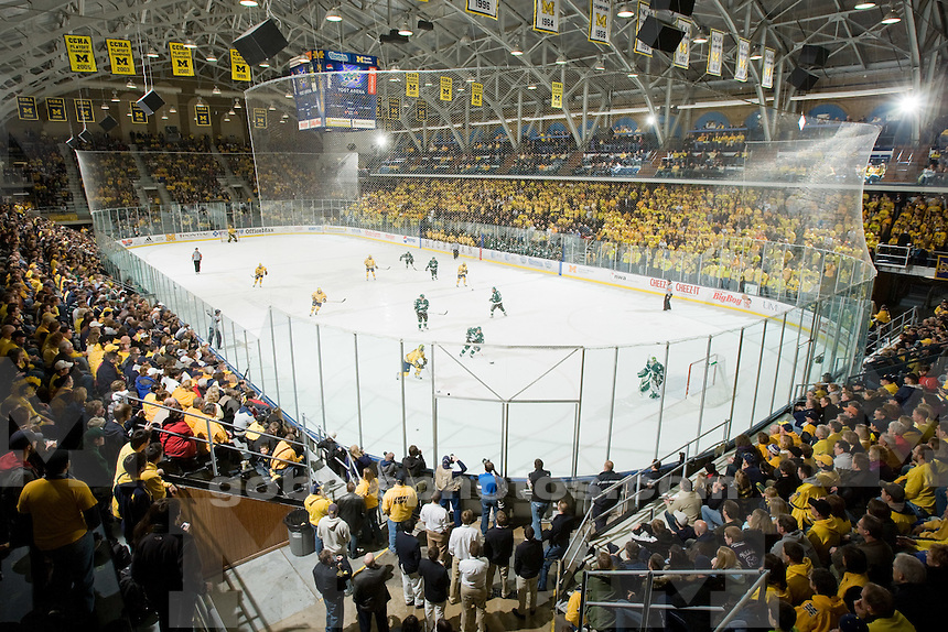 1/24/09 Men's ice hockey vs. Michigan State University at Yost Ice Arena.  U-M won 5-3.